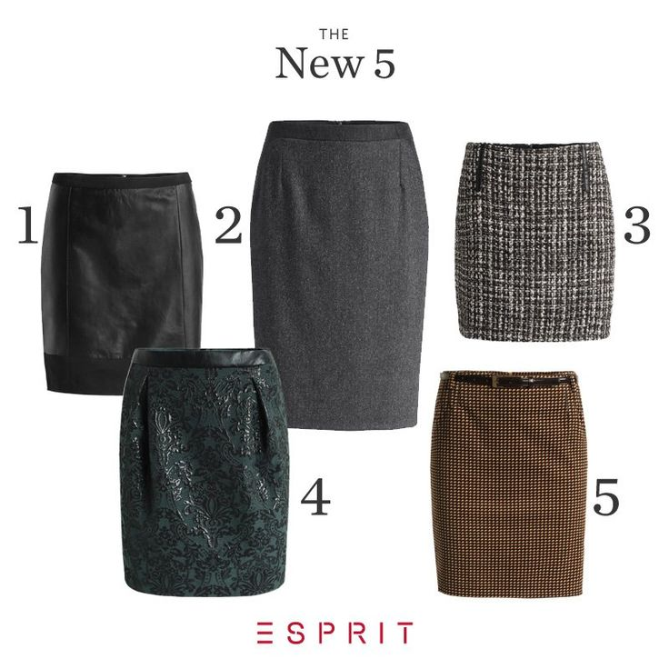THE NEW 5: Show your legs – even during the cold season. Mini or midi, tweed, leather or baby cord? Tell us, which skirt you like best! #Esprit