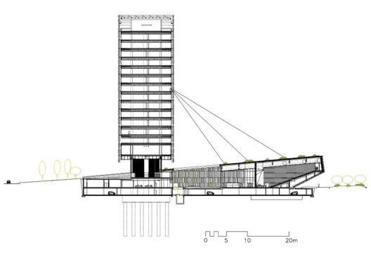 Nueva Sede Social de Caja de Badajoz / Estudio Lamela Arquitecto,Sección 01
