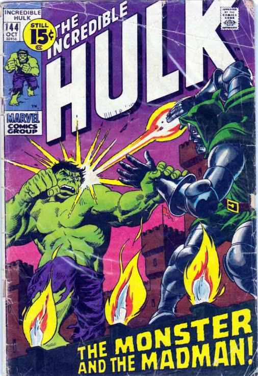 The Incredible Hulk #144 October, 1971 Herb Trimpe Cover. Roy Thomas Story.