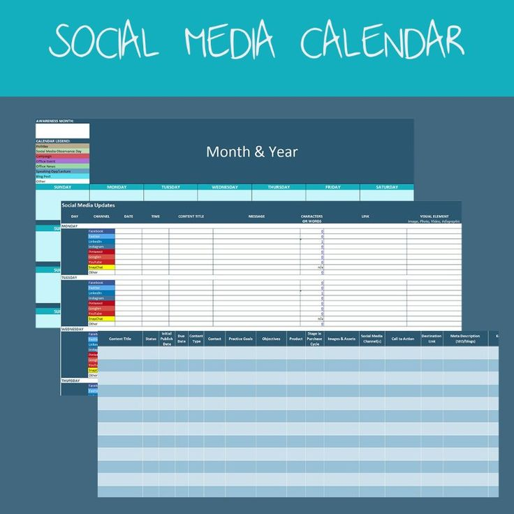 Download my social media calendar and marketing plan template for - social media calendar template
