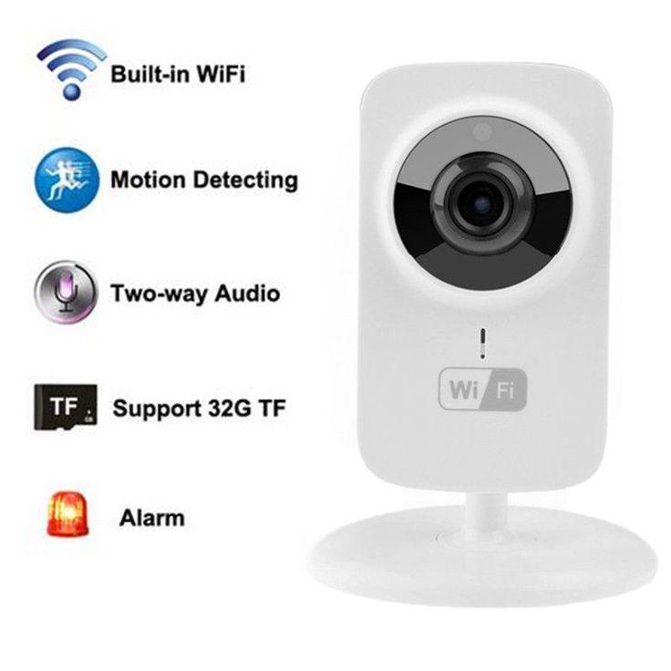 Mini Wireless IP Camera 720P HD P2P Onvif Intercom Home Security WiFi Camera S1  #V380
