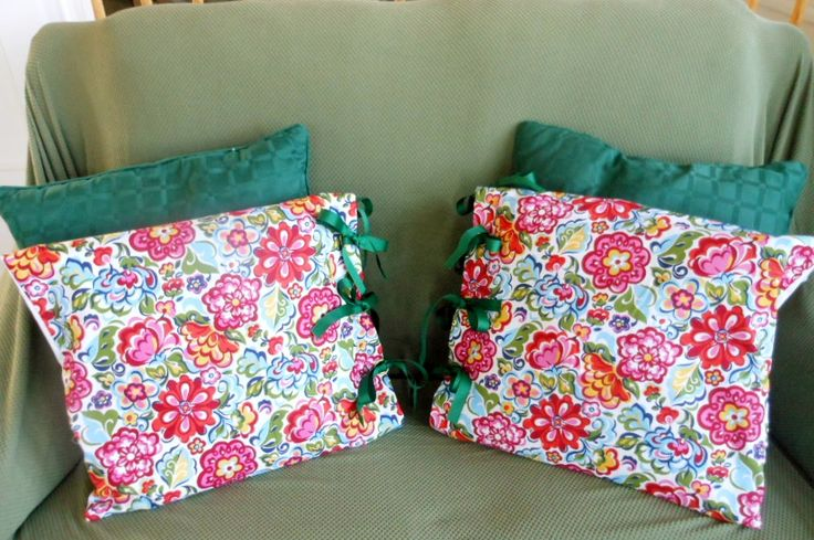 Cushion covers - retired Vera Bradley fabric (hope garden)