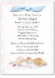 1470L Bridal Shower Invitation Fanfare Sea Shells