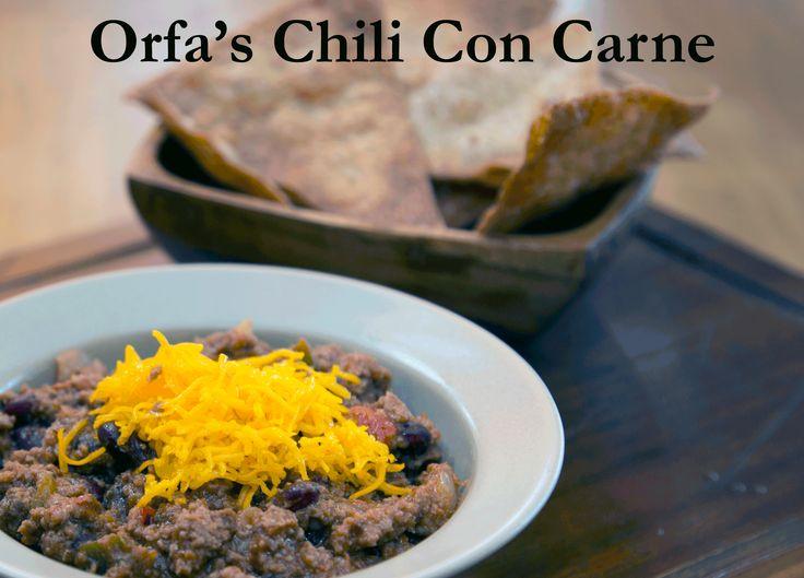 Orfa's Chilli Con Carne.