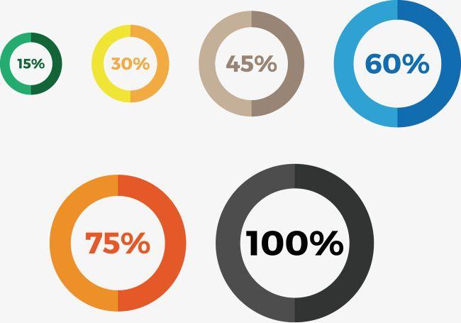 Percentage Vector Round Frame Round Frame Frame Background Images