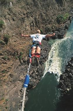 Bungee cord breaks but no damage done… | Victoria Falls 24