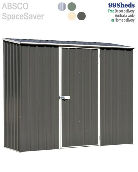 Absco Space Saver Garden Shed • 30 year warranty. So tough - Too Easy!