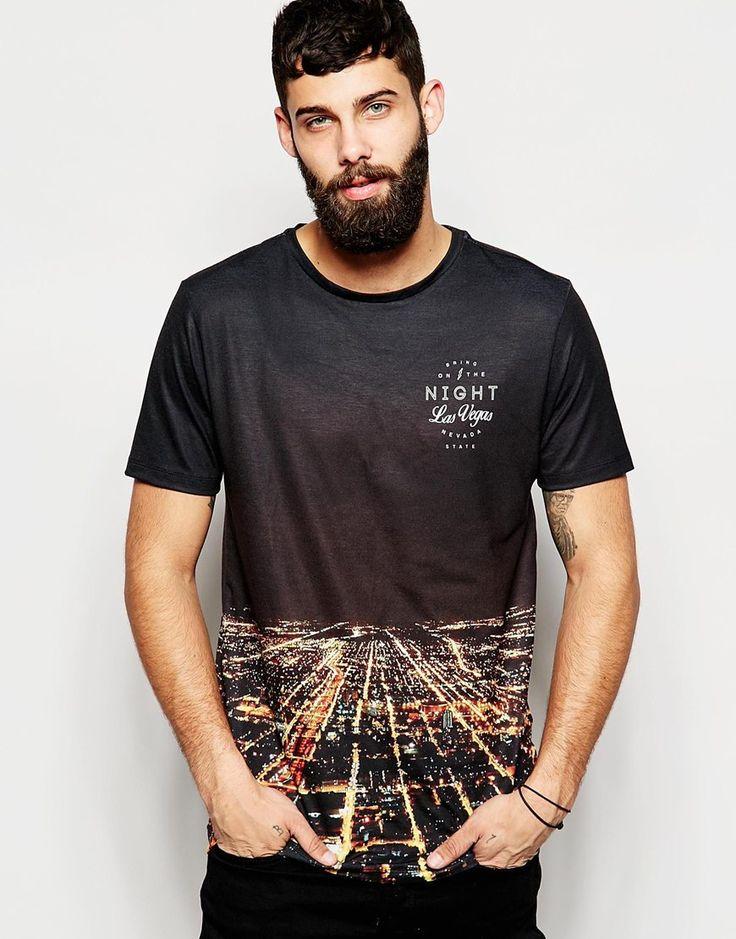 Imagen 1 de Camiseta estampada Las Vegas de River Island