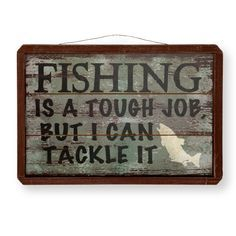 Gone fishing! Something your guy will love to show off. (Wall sign $9.99) #Gordmans #GreatGuyGiftGuideContest #FathersDay
