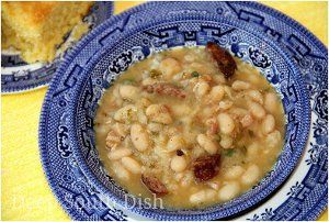 New Orleans Style Cajun White Beans with Rice | AllFreeSlowCookerRecipes.com