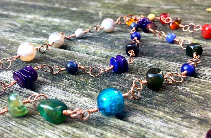 Ketting Rose Gold Necklace door EarthbeadsByYasmy