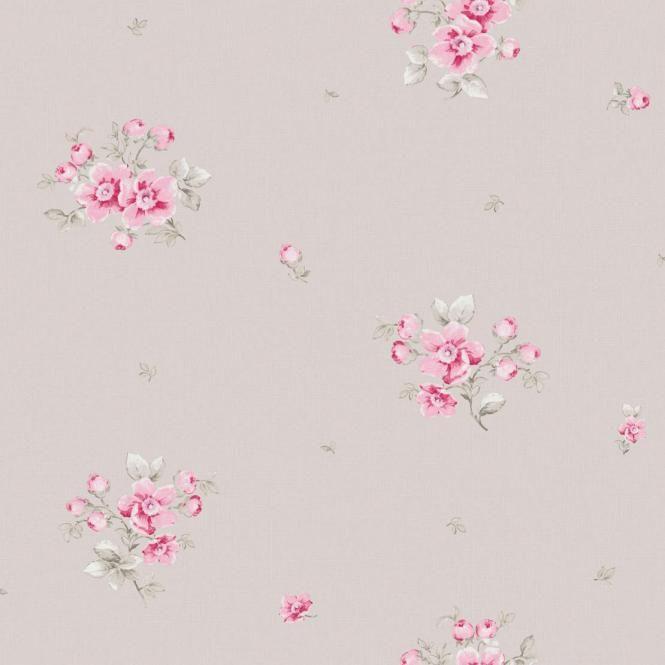 Landhaustapete mit Blumen LLR21214901