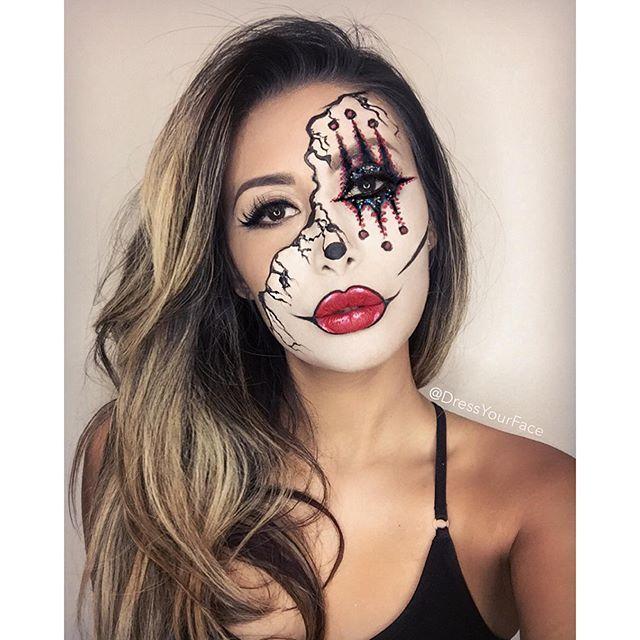 Die Besten 25 Halloween Schminken Halbes Gesicht Ideen