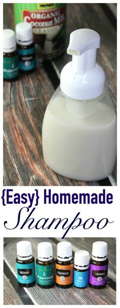 EASY Homemade Shampoo with just a FEW simple ingredients (and great for your scalp!)