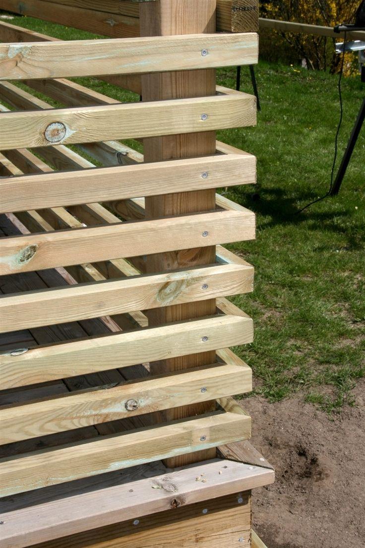 Inredning lägga trall på balkong : Bildresultat för trädäck staket | TrädgÃ¥rd | Pinterest | Spaljé ...