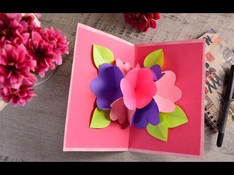 Manualidad   Cómo Hacer una Tarjeta 3D Sorpresa para el Día de las Madres