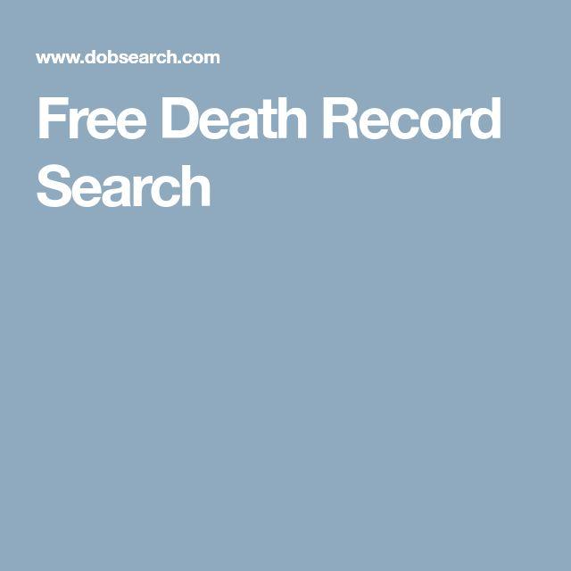 Free Death Record Search