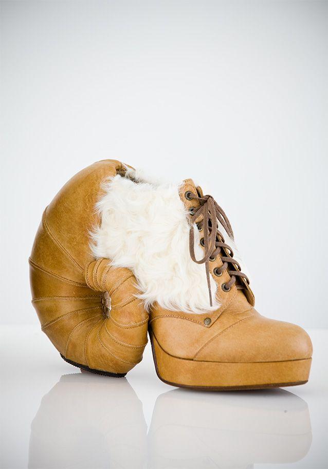 Aries 01 mountain sheep inspired shoes by Japanese designer, Masaya Kushino