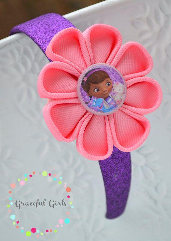 Doc McStuffins Sparkle Flower Headband by GracefulGirls on Etsy