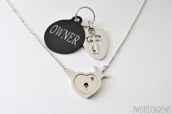 ENGRAVED BDSM collar locking day collar necklace by TwistedSkrews