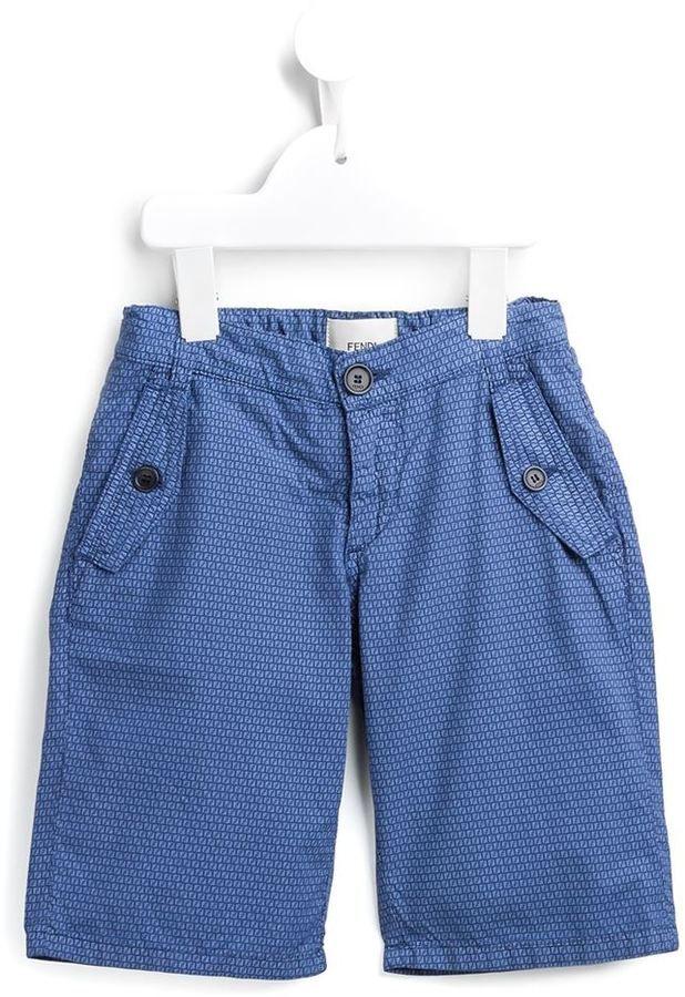 Fendi monogram embellished shorts