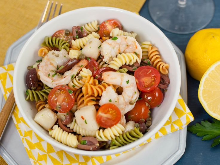 Seafood Puttanesca Salad - White Cooking Wine with Lemon recipe  via Food Network