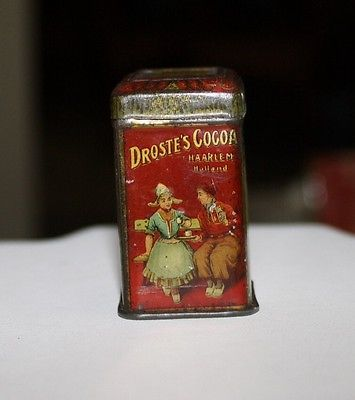 1904 Antique Free sample 1/4 oz Droste's Cocoa Tin Haarlem Holland Miniature