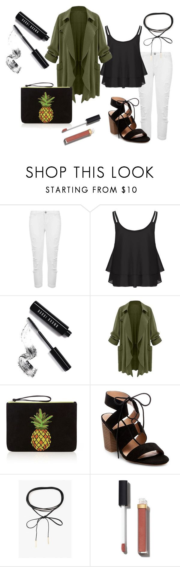 dress to impress by patsilvarte-blog on Polyvore featuring Miss Selfridge, Merona, Azalea, Chanel and Bobbi Brown Cosmetics  #ootd #outfit #greenarmy #pineapple