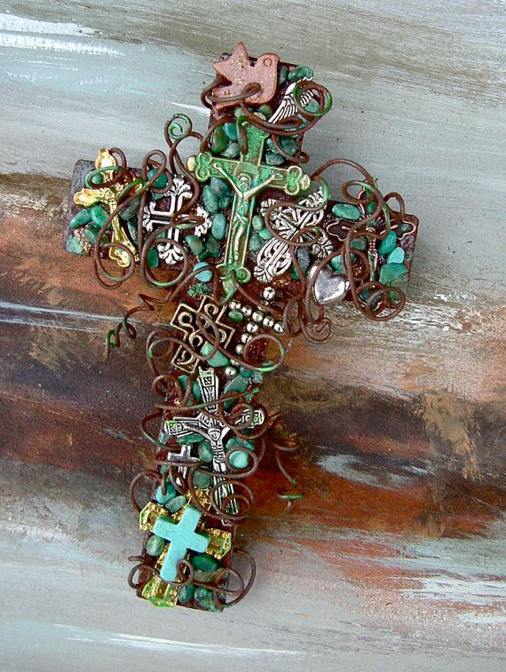 RESERVED FOR JoBETH  Three Cross of Crosses by TotallyCrosses, $97.50