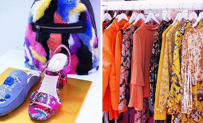 Primark herfst-wintercollectie 2018. En véél designer look-a-likes zoals Gucci-schoenen en Chanel-tassen.