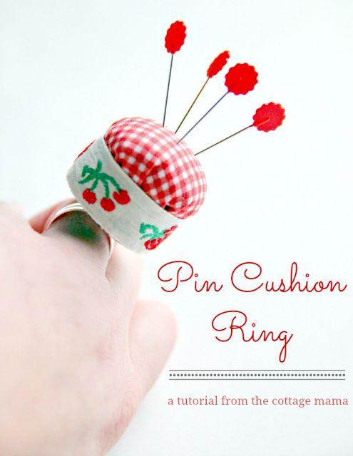 Come fare puntaspilli da tenere al dito - Tutorial | Cucito Creativo - Tutorial gratuiti - Idee Creative - Uncinetto - Riciclo Creativo