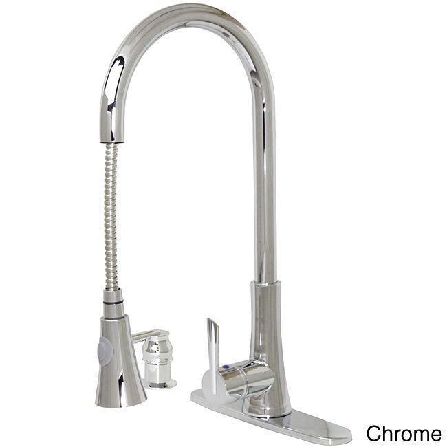 Dyconn Modern Kitchen Pull-Out Faucet (Polished Chrome), Silver