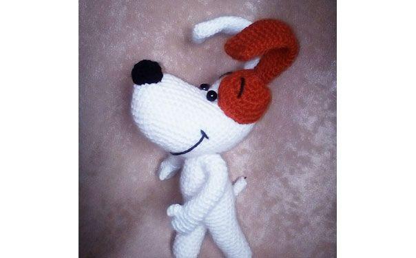 Вязаная крючком собака «Рэкс» — герой одноименного мультфильма . Схема