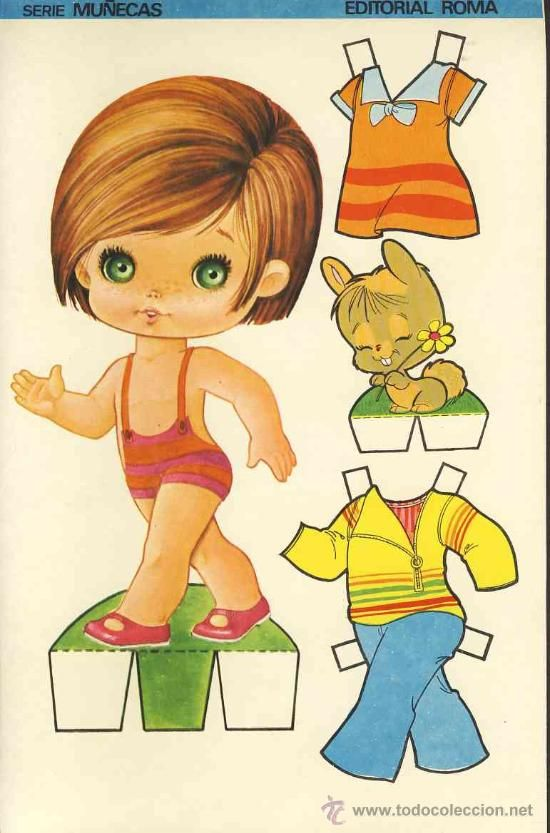 Coleccion completa 10 recortables muñecas EXTRA RECORTE Ed.Roma. Doble hoja cartulina (v.fotos adic) - Foto 7