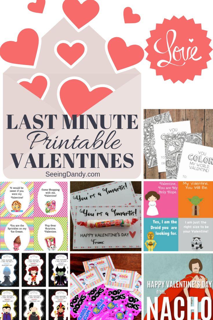 Free Printable Last Minute Valentines