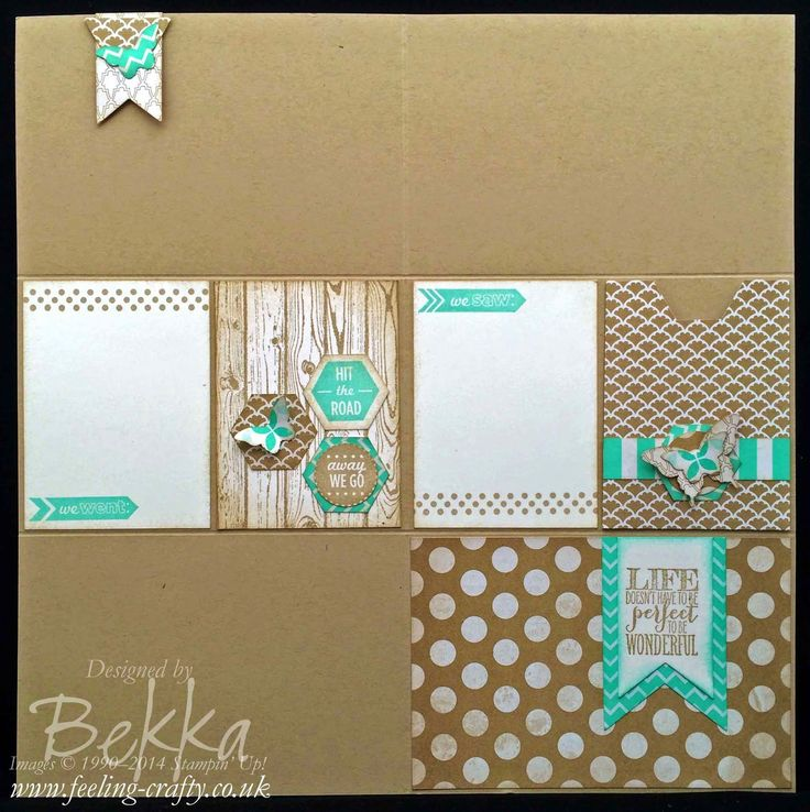 Project Life Inspired Scrapbook Page using Stampin' Up! Products - real thing coming to the UK soon check it out here!