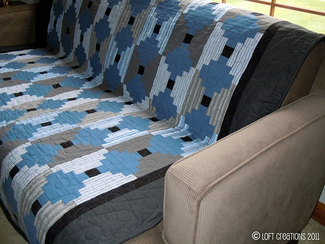 Love log cabin quilts!