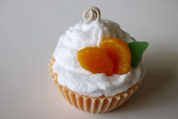 Jumbo Orange Dreamsicle scented cupcake candle on Etsy, $12.99