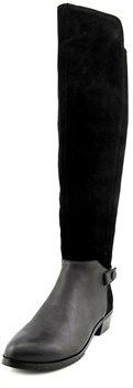 Kelsi Dagger Vlad Women Round Toe Suede Black Over The Knee Boot.