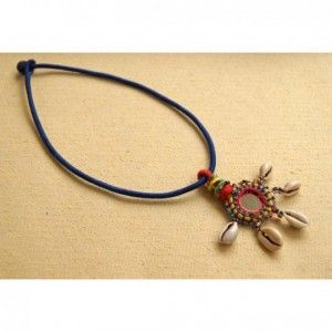 Blue mirror pendant