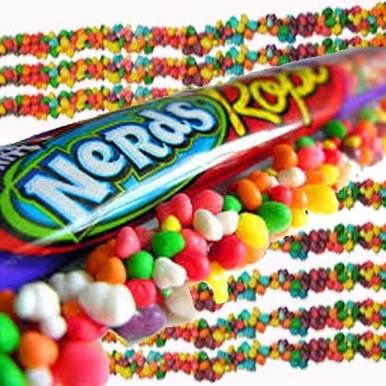 Rainbow Nerds Rope Candy Packs - 24 Ct. Case