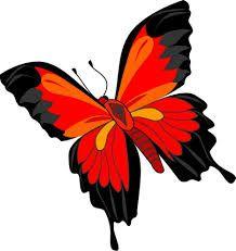 Dibujos de mariposas rojas