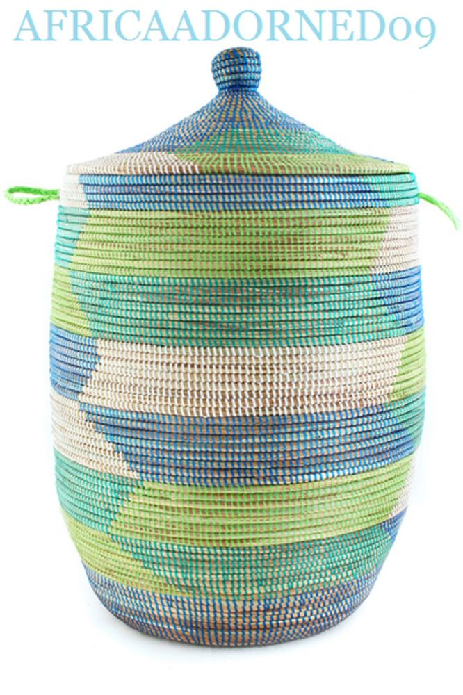 Tropical Sea Prayer Mat Basket from Senegal, Africa