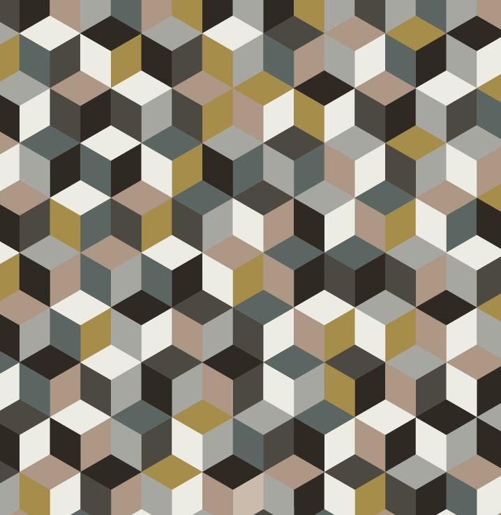 Tissu cube fin de siecle 1 tapis dalle moquette for Moquette motif geometrique