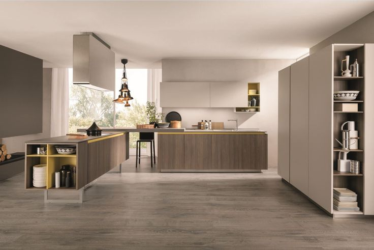 Cocina integral con península FILOLAIN by Euromobil