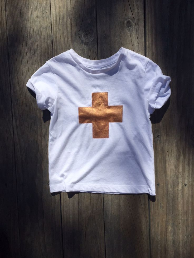 ➕one 'mini copper-plus' ' kids' tee designed + individually hand-painted  by Claire Webber using eco friendly water based metallic fabric paints. 100% cotton.  size 1 - 7.  Claire Webber, Hobart, Tasmania webberclaire1@gmail.com