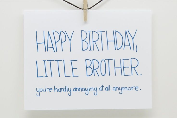 Happy Birthday little brother.