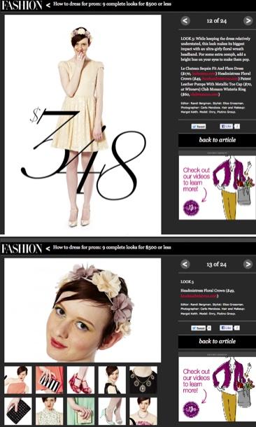 Prom Season with @FASHION Magazine    http://www.loveheadmistress.com/spring-floral-crowns/599-wonder-wheel-crown-4.html