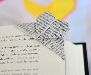 See the link for instructions on how to make an origami corner heart bookmark - could definitely make studying more fun!