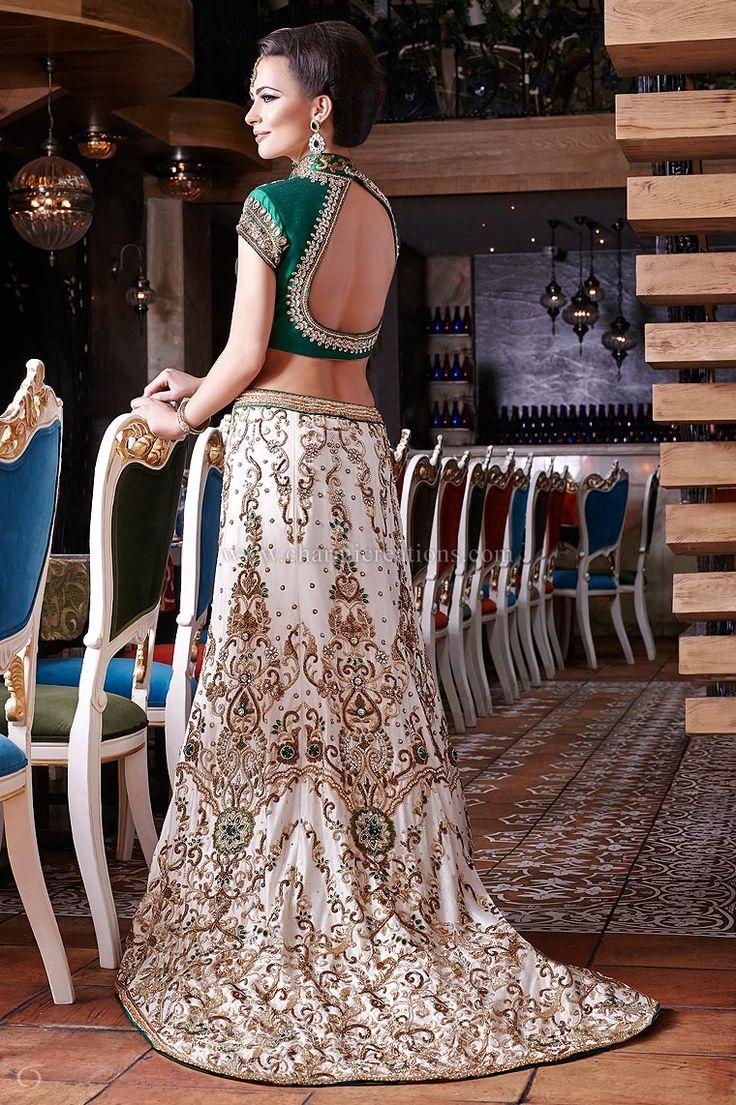 Emerald wedding dress   Modern Indian Wedding Dresses and Wedding Gowns Ideas  Wedding